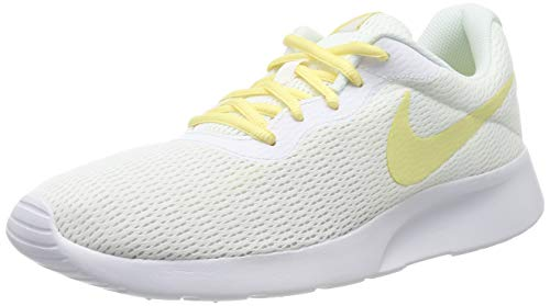 Nike Damen Tanjun Laufschuhe, Weiß (White/Bicycle Yellow 107), 40 1/2 EU