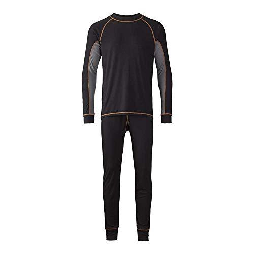 J.A.K. 60091203 serie 6009 44% katoen/34% polyacryl/12% polyamide/10% wol thermo-ondergoed, zwart, L maat