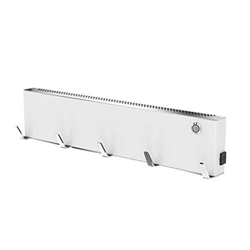 Toallero eléctrico para baño, Toallero eléctrico de Acero Inoxidable, 500 mm de Ancho x 110 mm, seco Grande: Acabado Pulido con Espejo calentado para Toalla