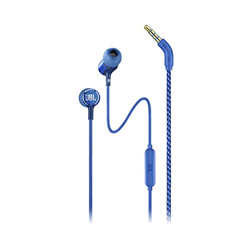 JBL Live 100 in-Ear Headphones with in-Line Microphone and Remote (Blue) (JBLLIVE100BLU)