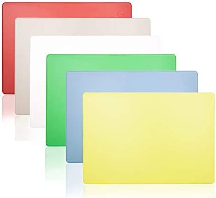 Commercial Plastic Cutting Boards Set 20x15 Inch 6 Color Pack NSF product image