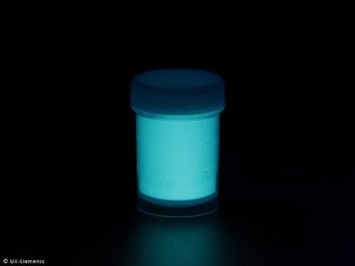 Langnachleuchtendes Pigment 50g - blau-grün - Schwarzlicht, Farbpigment, UV, Neon