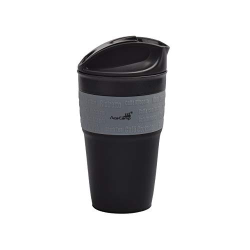 AceCamp Opvouwbare koffiebeker Coffee to go beker herbruikbaar comprimeerbaar lekvrij met deksel, 355ml, 1539
