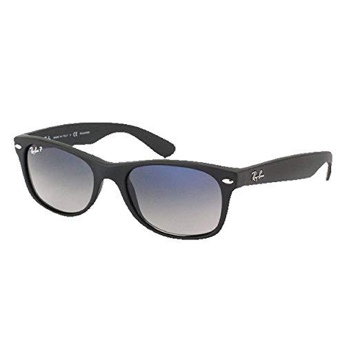 Ray Ban New Wayfarer RB 2132601s/78mate marco negro/azul degradado gris lentes polarizadas
