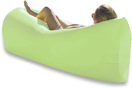 Decor Aufblasbare Liege wasserdicht Blow Up Couch, wasserdicht Tragbares Anti-Lecking für Camping Wandern PicknickTraveling Comfy Bezerreistuhe für Erwachsene Hängematte grün