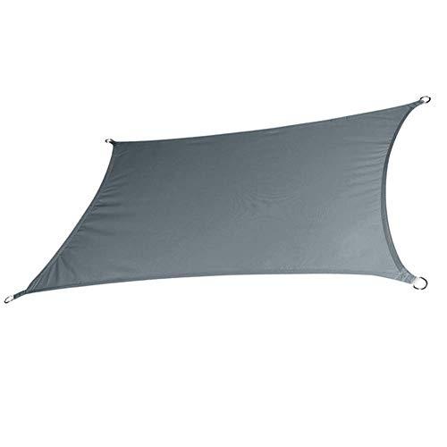 PLEASUR partij zonnebrandcrème luifel luifel zonnescherm zonwering tent rechthoek waterdichte hangmat luifel voor outdoor tuin camping strand zonnescherm regen vliegen Tarp (kleur: grijs, grootte : 3x4m)