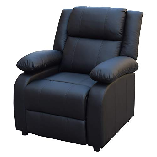 LD-Handel Kinosessel Sofa Cinemasessel Relaxsessel Fernsehsessel Sessel Polstersessel Schwarz