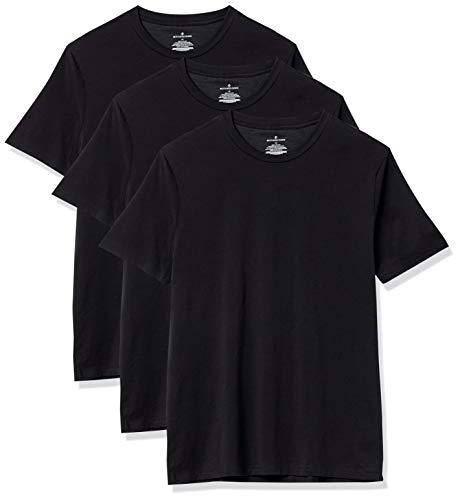 Buttoned Down 3-Pack Supima Cotton Stretch Crew Neck Undershirts, Schwarz, 64-66
