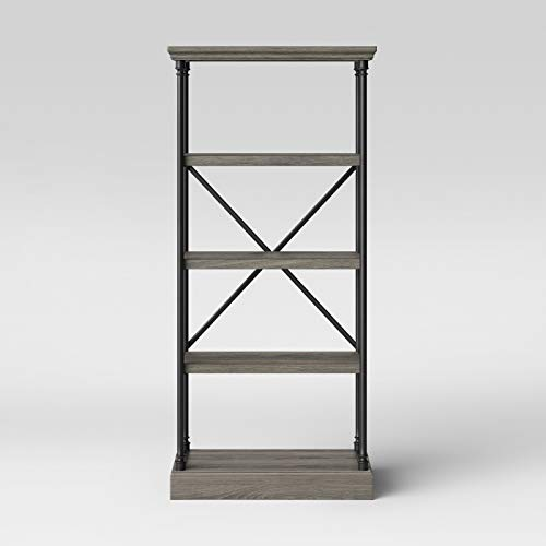 "65"" Conway Cast Iron Bookcase Wood - Threshold™"