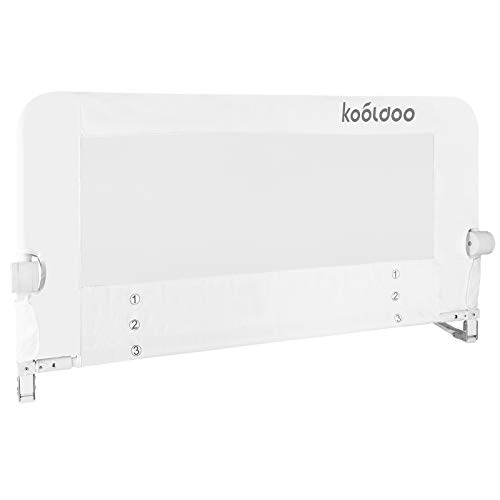KOOLDO Baby Bed Rail Fold Down Safety Bed Guard
