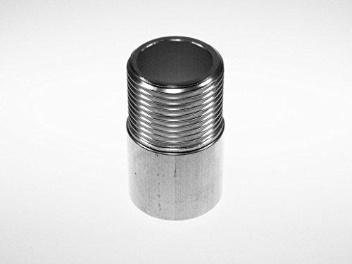 3/4 Zoll x 50 mm Aluminium Anschweißgewindenippel, Whitworth-Rohrgewinde DIN EN ISO 228-1 (DIN 259) Metallstore