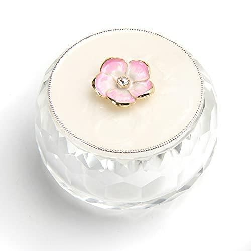 Caja de joyas para joyas de flores, para anillos, pendientes, collares, cajas de joyas para wom (color transparente, tamaño: L)