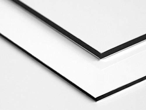 Signalétique.biz® - Matières Première - Plaque Aluminium Dibond - Blanc - Différentes Tailles Disponible - 20 x 80 cm - Épaisseur 2 mm