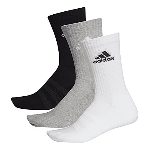 adidas Cushion Crew Socks Socken 6er Pack (grey/white/black, l)