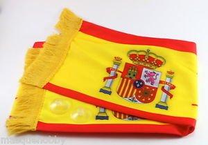 Euroxanty-Bufanda de España para el Coche/Ventana con ventosas 108x16cm Aprox