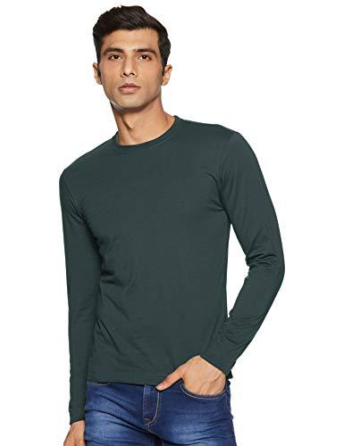 Jockey Men's Plain Regular fit T-Shirt (AM95_Green Gable L)