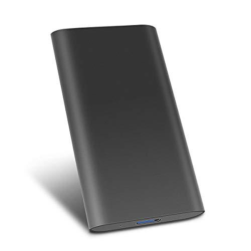 Hard Disk Esterno 2tb Type C USB3.1 Hard Disk Esterno per PC, Mac, Desktop, Laptop, MacBook, Chromebook (2tb, Nero)