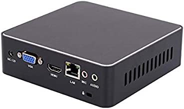 KANEED Mini PC for Intel Core 4ta generación de Chips i5 4200U, 4GB + 128GB, Tarjeta de Red inalámbrica incorporada (Negro) Mini PC (Color : Black)