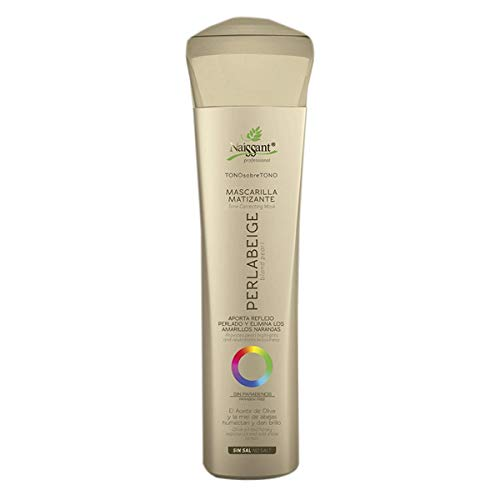 Naissant Professional Hair Treatment Mask. Color Depositing, Color Intensifier and Tone Correcting Highlights. Without Salt, Paraben and Ammonia. (Blond Pearl, Perla Beige)