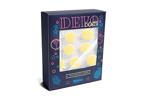 DEKOlights LED Lichterkette/Zitronen / 125cm lang ohne Batterien, für Innenbereich, 20 LED-Motive pro Lichterkette