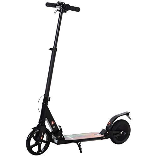 HOMCOM Patinete Eléctrico para Mayores de 14 Años E-Scooter Plegable Manillar Ajustable 12 km/h Batería Recargable 22,6V Monopatín 150W Carga 100kg