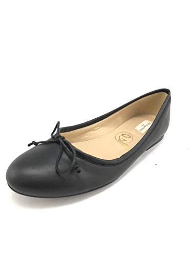 Will's Vegan zapatos para mujer bailarina pisos negro, color Negro, talla 38 EU