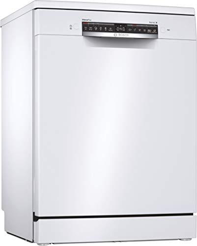 Bosch SMS4HDW52E Serie 4 - Lavavajillas independiente, D, 60 cm, blanco, 84 kWh/100 ciclos, 13 MGD, SuperSilence, secado extra, cesta Vario, Home Connect