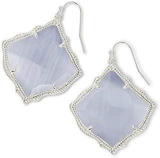 Kirsten Drop Earrings in Silver and Slate Cats Eye