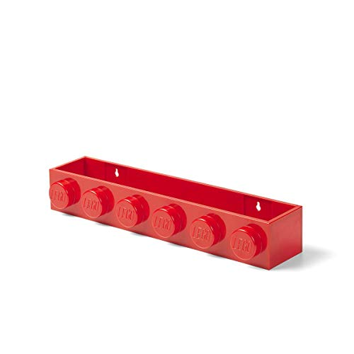 Room Copenhagen 41121730 Estantería para Libros Lego, Rojo, Resina, One Size