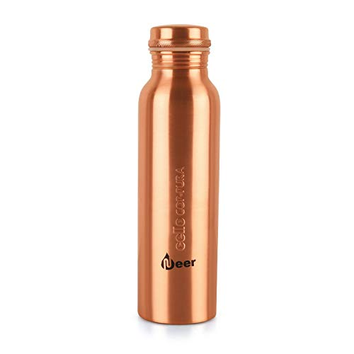 Cello Cop-Pura Neer Copper Water Bottle, 1000 milliliters,Pack of 1, Copper