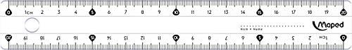 Maped Essentials 146 Double-décimètre avec étui de protection 20 cm