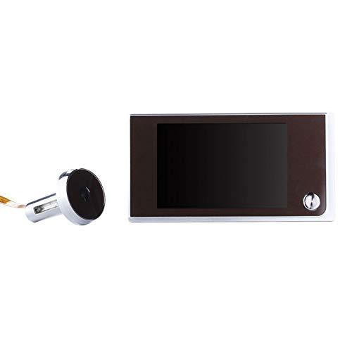 GeKLok Timbre multifunción Inteligencia Hogar Seguridad LCD Color Hogar Uso Hogar Digital Mirilla Visor Negro + Plata)