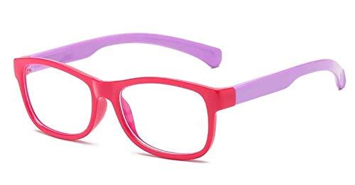 Kinderbrille, blaues Licht blockierende Brille für Jungen und Mädchen, Kinder Anti-Blaulicht-Brille, Computerbrille, klare Gläser, Gaming-Brille, rechteckiger Rahmen, Brille für Alter 3–12 Jahre