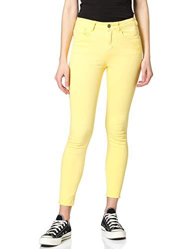 Desigual Womens ALBA Casual Pants, Yellow, 42