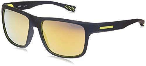 Hugo Boss Boss 0799/S C4 UDK gafas de sol, Negro (Bkrubbr Yellow/Brw Yelsp Pzole), 57 Unisex-Adulto
