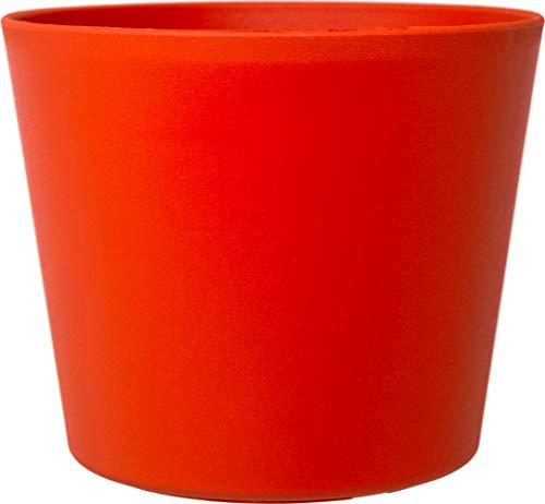 Leni P 0838-7 Flori 19-Macetero (diámetro de 20 cm x 18 cm), Color, Naranja Oscuro Mate, Ø 19.5 cm H 17.5 cm