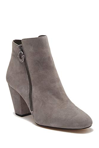 1.STATE Womens PREETE Suede Almond Toe Ankle Fashion Boots, Iron, Size 8.0