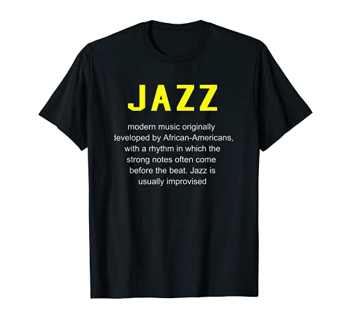 Jazz Musica - Definizione del Dizionario Camicia Divertente Maglietta