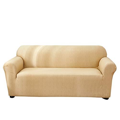 Funda para sofá de dos plazas Funda de sofá de 1 pieza 2 Asientos para reposabrazos Sofá de esquina con asientos dobles Protector de sofá elástico Fundas para muebles 2 Plazas (120-190 cm) (beige)
