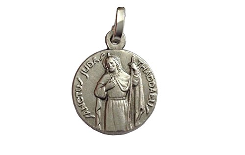 Igj 925 Sterling Silver Saint Jude Thaddeus Medal - Patron Saint of Impossible Cases (St.Jude Full Figure)