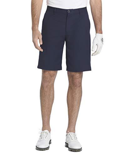 """IZOD Men's 9.5"""" Straight Fit Swingflex Golf Short, Midnight, 34W"""