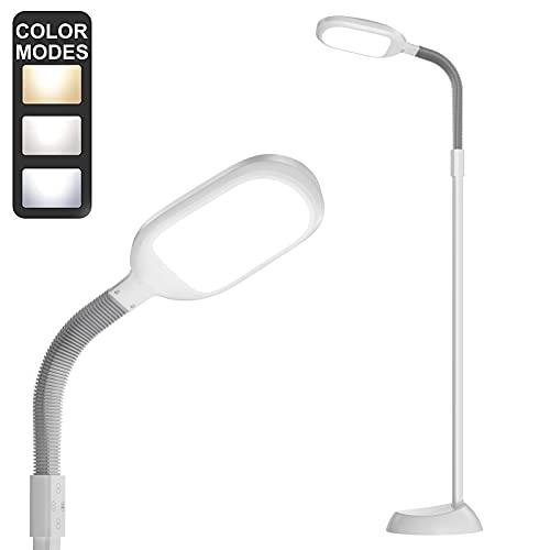 addlon - Lámpara de pie de lectura de intensidad regulable