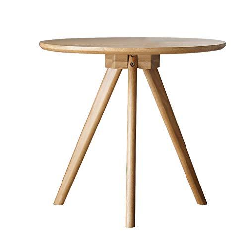 LSX - Couchtisch Couchtisch - moderner minimalistischer Massivholzsofa seitlicher Wohnwohnungsklotz japanische Designermöbel nordischer Eichenholz runder Couchtisch Beistelltisch (Color : Natural)