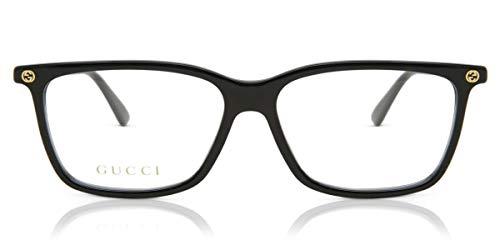 Gucci Unisex – Erwachsene GG00940-006-54 Brillengestell, glänzend schwarz, 54