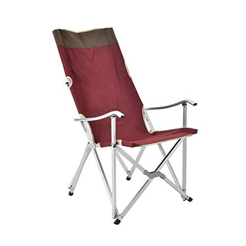 WSDSX Silla Plegable reclinable Silla de Camping Plegable para Exteriores, Respaldo portátil para Pesca Silla de Ocio, sillón de Playa de aleación de Aluminio con Bolsillo de Almacenamiento Beac