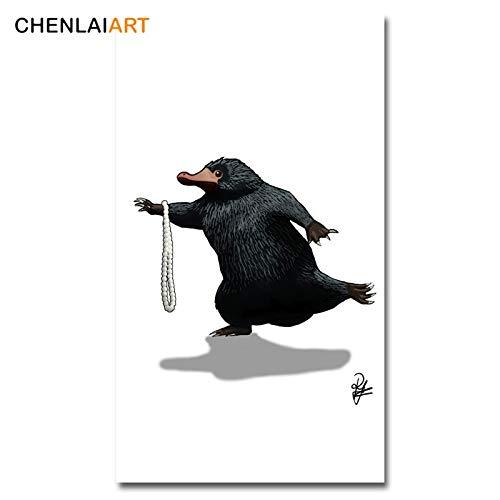 Kein Rahmen Niffler Bild Poster Leinwand Malerei Wandkunst Fantastic Beasts Moderne nordische Tiere Drucke auf Leinwand für Kinderzimmer-3
