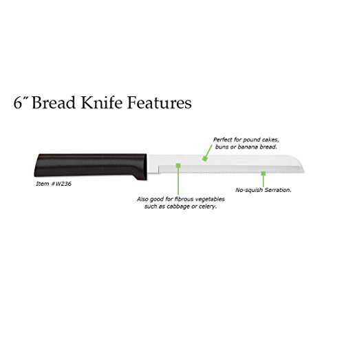 Rada Cutlery 6-Inch Bread Knife – Stainless Steel Serrated Blade With Stainless Steel Resin Handle Made in the USA