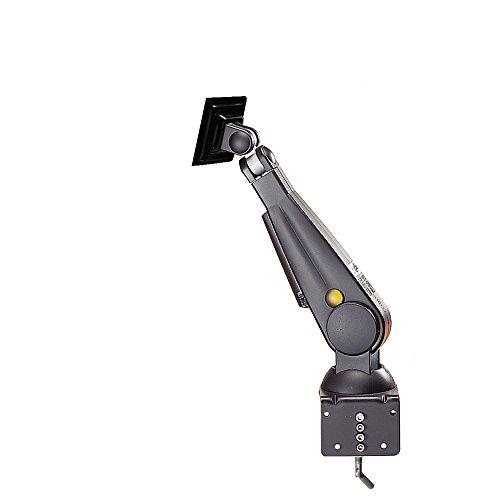 NewStar Monitor tafelhouder (klem) voor één scherm, 25,4 – 76,2 cm 2 draaibare hoogte verstelbaar (gasveer) – crème D200 (standaard) zwart
