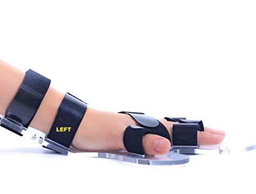 PYXZQW Finger Splint Hand, Fixing Plate Stroke Brace Support Professional Functional Resting Hand/Wrist Separate Finger Orthosis Adjustable Function Rehabilitation,Left Hand,M