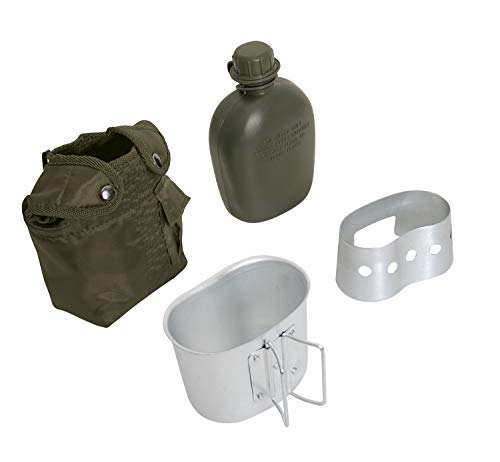 Rothco 4 Piece Canteen Kit with Cover, Aluminum Cup & Stove/Stand, Olive Drab